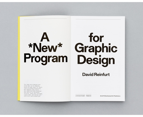 David Reinfurt lecturing on 'A *New* Program for Graphic Design' at Yale School of Art