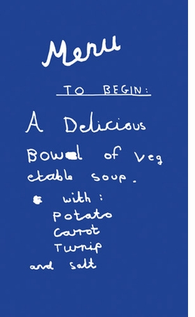 Featured image is reproduced from <I>David Shrigley: Pass the Spoon</I>.