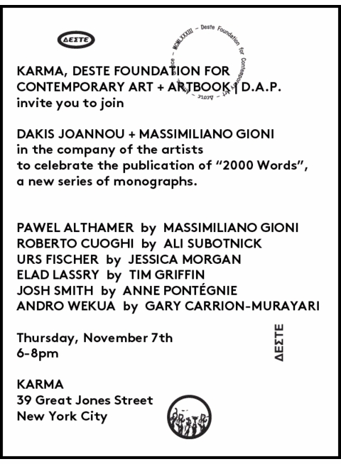 Deste Foundation '2000 Words' Series Launches at Karma
