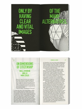 Above: spreads from 'Dimensions of Citizenship.'