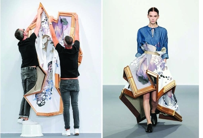 Dress as sculpture in 'Viktor & Rolf: Fashion Artists 25 Years'