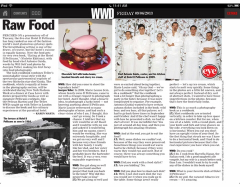 Eat it and Weep: WWD talks to Juergen Teller about 'Eating at Hotel Pellicano'