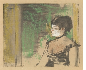 """""""Cafe Concert Singer"""" (c. 1875-76) is reproduced from <I>Edgar Degas: A Strange New Beauty</I>."""
