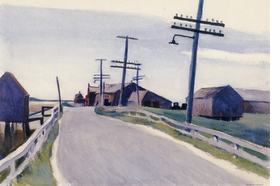 """Wellfleet Road"" (1931) is reproduced from 'Edward Hopper: A Fresh Look on Landscape.'"