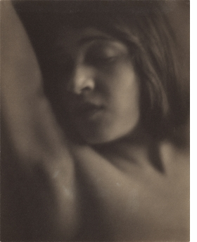 """Head of an Italian Girl"" (1921) is reproduced from 'Edward Weston: The Early Years.'"