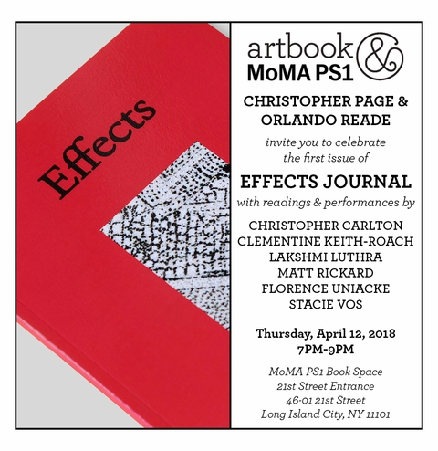 Effects Journal launch at Artbook @ MoMA PS1