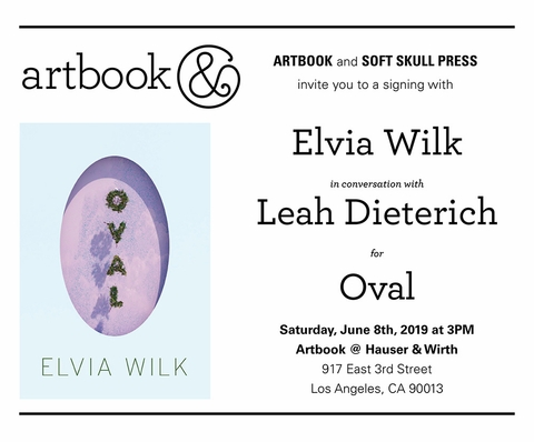 Elvia Wilk book launch, conversation and signing at Artbook