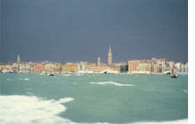 """""""Storm, Venice, Italy, 1980"""" is reproduced from 'Eric Boman: A Wandering Eye.'"""
