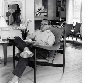 Featured image, of Finn Juhl in the Chieftain Chair in his home, surrounded by his best furnitureand the art that inspired him throughout his career, is reproduced from <I>Finn Juhl and His House.</I>