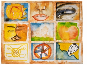 """Featured image, a watercolor by Francesco Clemente, is reproduced from <a href=""""http://www.artbook.com/9788881588091.html"""">Francesco Clemente: Made in India</a>."""