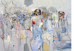 """Featured image, """"Spatial Figures"""" (2010), is reproduced from <a href=""""9781853322891.html"""" target='new'>George Condo: Mental States</a>, in which Laura Hoptman writes, """"Throughout his career, Condo has exhibited an astonishing ability to channel an art-history primer's worth of artist. He uses the languages of modernist abstraction like a palette: Matisse, Klee, Tanguy, Gorky, de Kooning, Pollock and Picasso—always Picasso, whose vocabulary is the basis for all the others."""""""