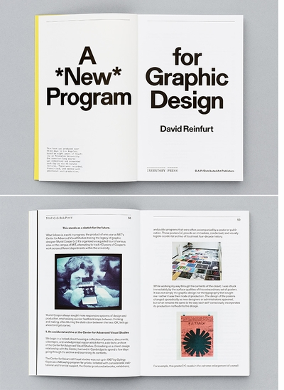 Get 'A *New* Program for Graphic Design' by David Reinfurt at the CAA Conference in Chicago
