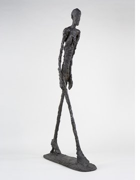 """Walking Man I"" (1960) is reproduced from 'Giacometti.'"