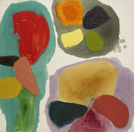 """""""Lure"""" (1963) is reproduced from 'Gillian Ayres.'"""