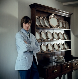 Featured image, of Charlie Watts in front of his china cabinet, is reproduced from 'Gered Mankowitz: Goin' Home with the Rolling Stones '66.'