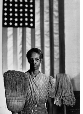 """""""American Gothic, Washington, D.C."""" (1942) is reproduced from <I>Gordon Parks: Collected Works</I>."""