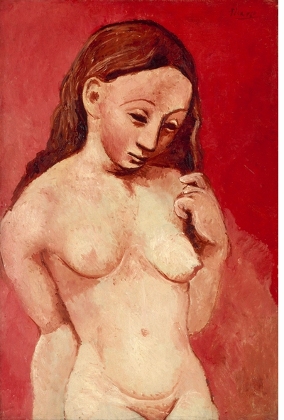Harbingers of revolution in Picasso's Blue and Rose Periods