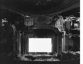"""""""Paramont Theater, Newark, 2015"""" is reproduced from <I>Hiroshi Sugimoto: Theaters</I>."""