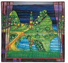 Featured image is reproduced from 'Hundertwasser & Schiele: Imagine Tomorrow.'