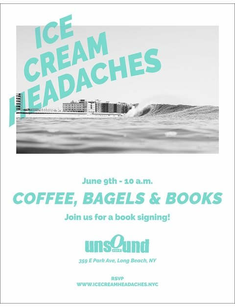 Ice Cream Headaches Launch Events in Bay Head, Long Beach & Montauk