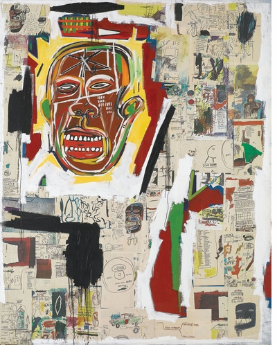 In 'Jean-Michel Basquiat: Xerox,' the horizontal cloud of information becomes a poetic condition