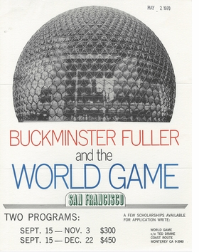 Featured image is reproduced from 'Information Fall-Out: Buckminster Fuller's World Game.'