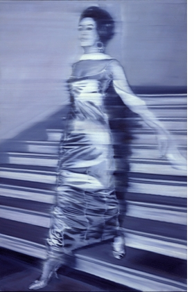 """""""Woman Descending the Staircase (Frau die Treppe herabgehend)"""" (1965), by Gerhard Richter, is reproduced from <I>International Pop.</I>"""