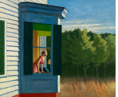 Social distancing in the landscapes of Edward Hopper