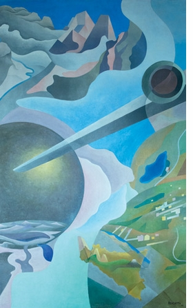 """Featured image, Benedetta's """"Synthesis of Aerial Communications"""" (1933-34), is reproduced from <I>Italian Futurism, 1909-1944: Reconstructing the Universe</I>."""