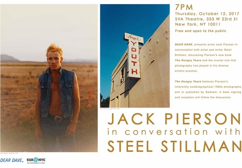 Jack Pierson to launch 'The Hungry Years' October 12 at SVA