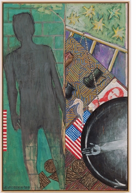 "Above, from 'Jasper Johns:' ""Summer"" (1985), encaustic on canvas, 190.5 x 127 cm, from the collection of The Museum of Modern Art, gift of Philip Johnson."