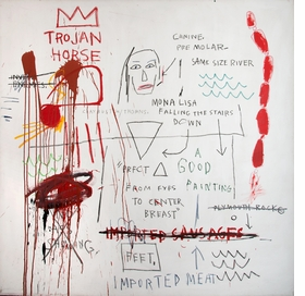 Featured image is reproduced from <I>Jean-Michel Basquiat: Words Are All We Have</I>.