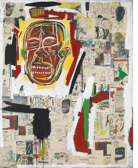 """""""King of the Zulus"""" (1984–85) is reproduced from 'Jean-Michel Basquiat: Xerox.'"""