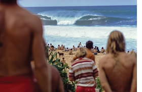"""Featured image, captioned """"'Expression Session' morning, Pipeline, Oahu, HI, 1971"""" is reproduced from 'Jeff Divine: 70s Surf Photographs.'"""