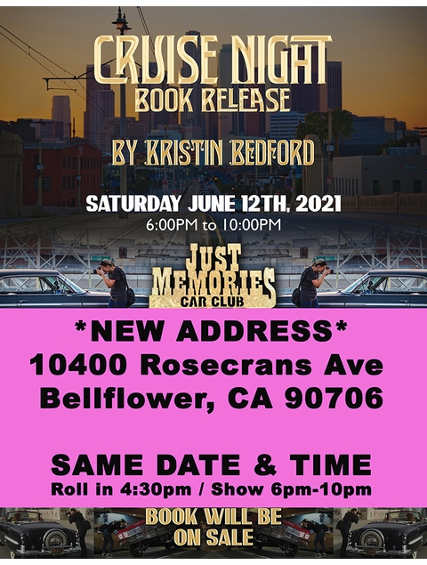 Join Kristin Bedford and the Los Angeles Lowrider Community for the release of 'Cruise Night'
