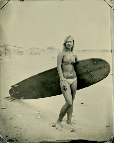 Joni Sternbach's 'Surf Site Tin Type' evokes a time when the sea had its own voice and the energy of mana animated all persons and places