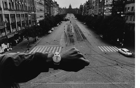 'Czechoslovakia,' 1968, is reproduced from 'Josef Koudelka: The Making of Exiles'