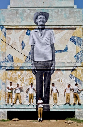 Featured image is reproduced from <I>JR & José Parlá: Wrinkles of the City, Havana, Cuba</I>.