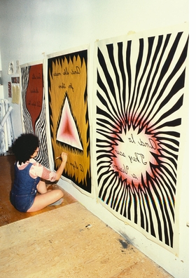 Featured image is reproduced from 'Judy Chicago: Roots of the Dinner Party.'