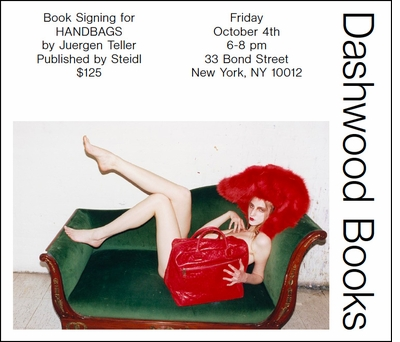 Juergen Teller signing 'Handbags' at Dashwood