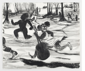 Featured image is reproduced from <I>Kara Walker: Dust Jackets for the Niggerati</I>.