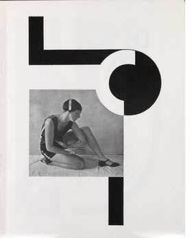 """Karel Teige's typo-montage composition representing the letter """"C"""" for Vitezslav Nezval's <I>Abeceda</I> cycle of poems with dance compositions by Milca Mayerova (1926) is reproduced from 'Karel Teige: Captain of the Avant-Garde.'"""