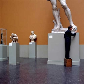 """Featured image, captioned """"Looking at Great Works,"""" is reproduced from <I>Karen Knorr</I>."""