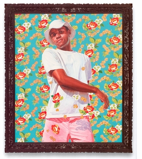 """Featured image is reproduced from <a href=""""9783868590692.html"""">Kehinde Wiley: The World Stage, Brazil</a>, in which essayist Kimberly Cleveland writes, """"Wiley goes beyond merely depicting some of Rio's African-descendent men. He transforms these black Brazilians into works of art, symbolically turning them into subjects reflective of the country's past and present."""""""