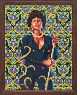 """""""Portrait of Anne Cynthia Petit Vil"""" (2014) is reproduced from <I>Kehinde Wiley: The World Stage: Haiti</I>."""