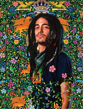 Featured image, <I>Mizrah</I> (2011), is reproduced from <I>Kehinde Wiley: The World Stage: Israel</I>.