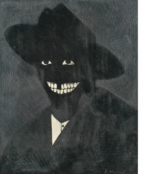 """""""A Portrait of the Artist as a Shadow of His Former Self"""" (1980) is reproduced from 'Kerry James Marshall: Inside Out.'"""