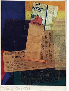 """Kurt Schwitters, """"Untitled (Valid)"""", 1929, is reproduced from <i>Kurt Schwitters: Artist Philosopher</i>."""
