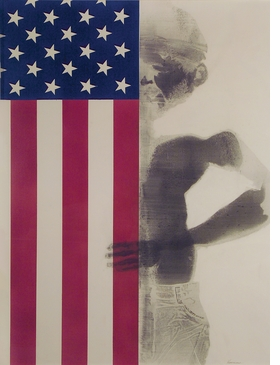 Featured image is <i>Boy With Flag</i>, a 1968 body print by David Hammons.