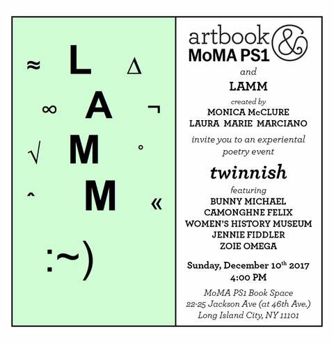 LAMM presents 'twinnish' at Artbook @ MoMA PS1